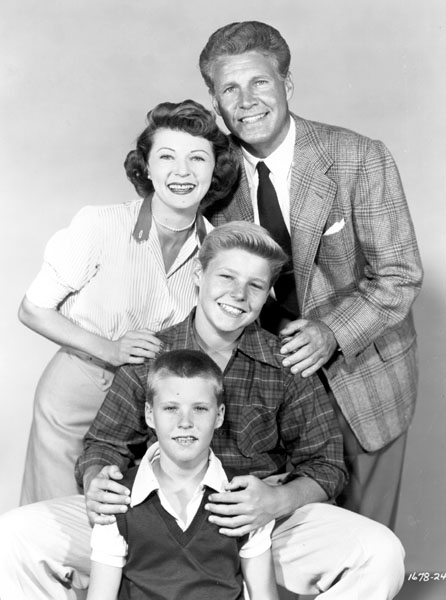 family, the Ozzie and Harriet (a black and white family tv show couple