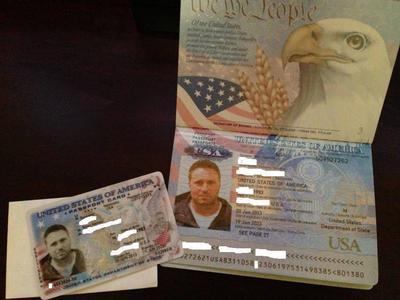 Kane Alexander is using this mans passport